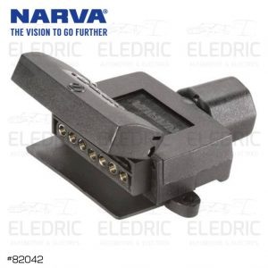 Narva 7 Pin Flat Trailer Socket Female Car Caravan 82042