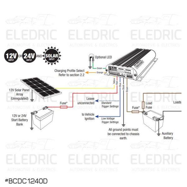 REDARC BCDC1240D WIRING DIAGRAM