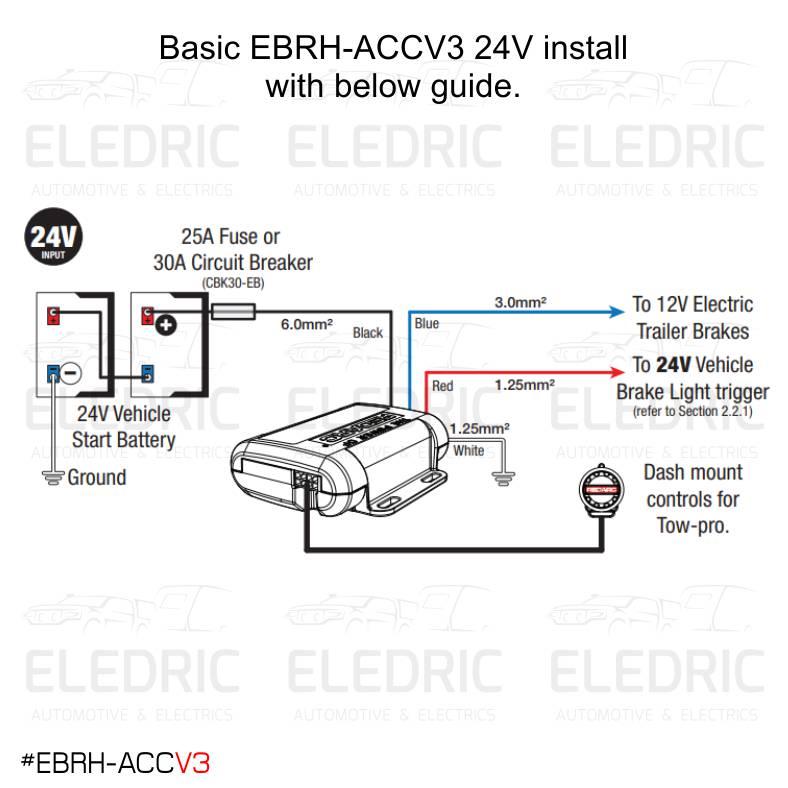Redarc Ebrh Accv3 Tow Pro Elite V3 Electric Brake Controller