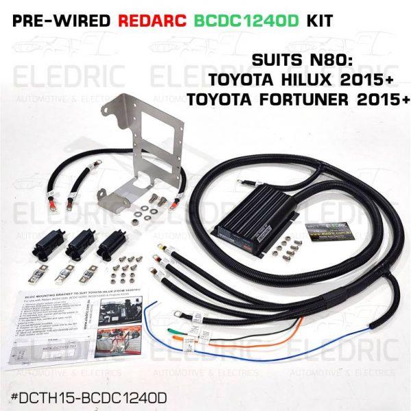 4DE-DCTH15-BCDC1240D Redarc Prewired dual battery wiring kit